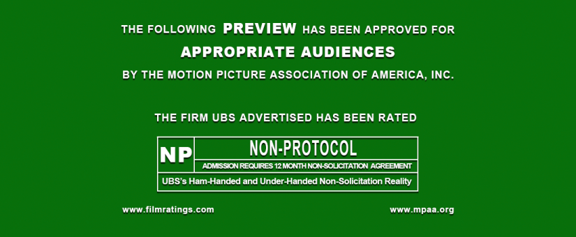 Ubss Ham Handed And Under Handed Non Solicitation Reality Advisorbox