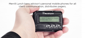 Merrill Lynch Bans Advisor's Personal Mobile Phones for all Client Communication, Distributes Pagers.