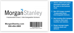 Morgan Stanley Replaces Advisor Names with Barcodes on Business Card