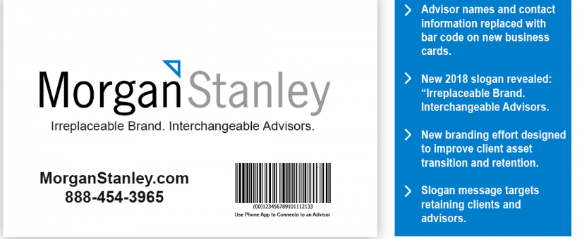 Morgan stanley replaces advisor names with barcodes on business card morgan stanley replaces advisor names with barcodes on business card colourmoves